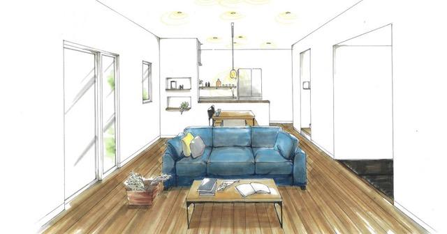 トータルハウジング | 指し色ブルーが映えるやさしい配色のお家 【薩摩川内市】