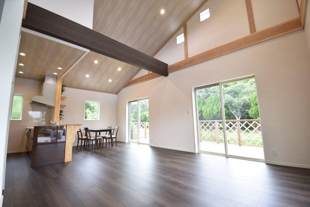リビングから直結のウッドデッキの家 オープンハウス 【鹿児島市喜入中名】