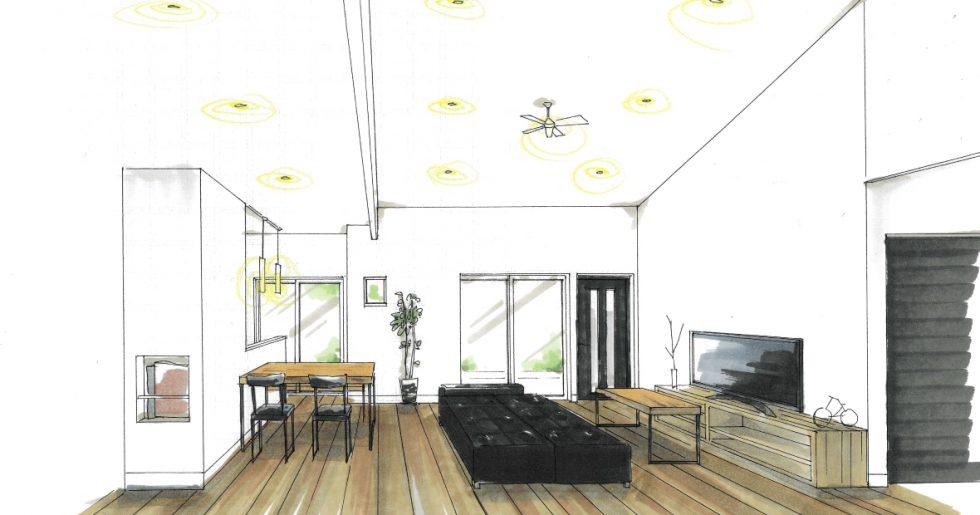 KURA&スキップフロアのある多層空間の平屋 新築発表会 【薩摩川内市】