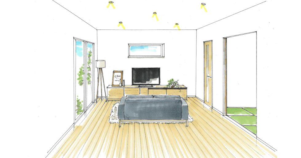 広々としたセンターリビングと畳仕上げの寝室でくつろぐ平屋の住まい 平屋新築発表会【薩摩川内市】