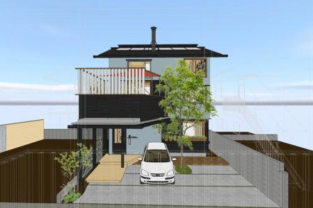鹿児島市真砂町で完成見学会 28坪に建つ 街中に心地いい家