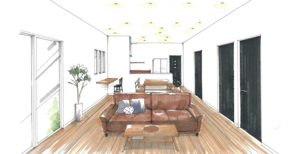 霧島市隼人町で新築発表会 ご家族のこだわりがつまった鉄骨手摺階段のあるお家
