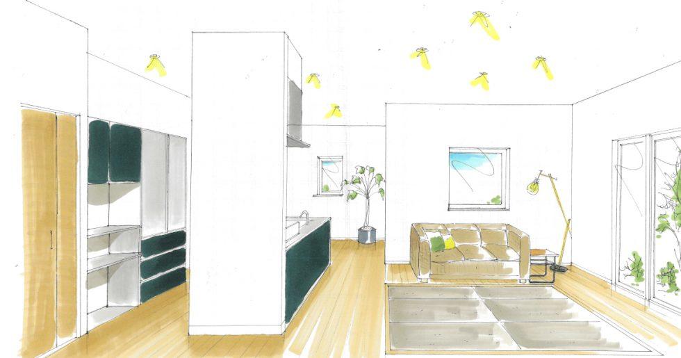 姶良市平松で新築発表会 たたみリビングで癒される快適リラックスハウス