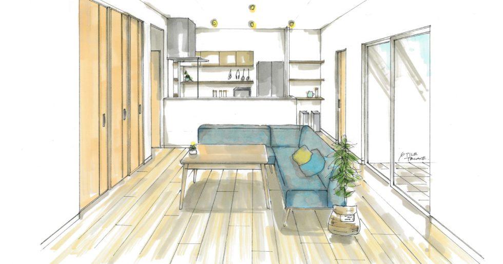 薩摩川内市平佐町で新築発表会 家族の団らんが取れやすい広々LDKとプライベート空間を分けた住まい
