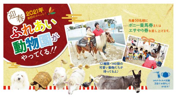 県内3会場でふれあい動物園 開催!
