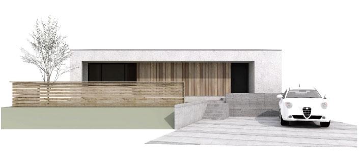 薩摩川内市平佐町で構造見学会 カヴァードポーチのある平屋 プレオープン