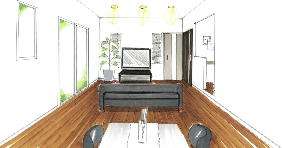 鹿屋市郷之原町で新築発表会 家事空間と収納たっぷりなZEHの家