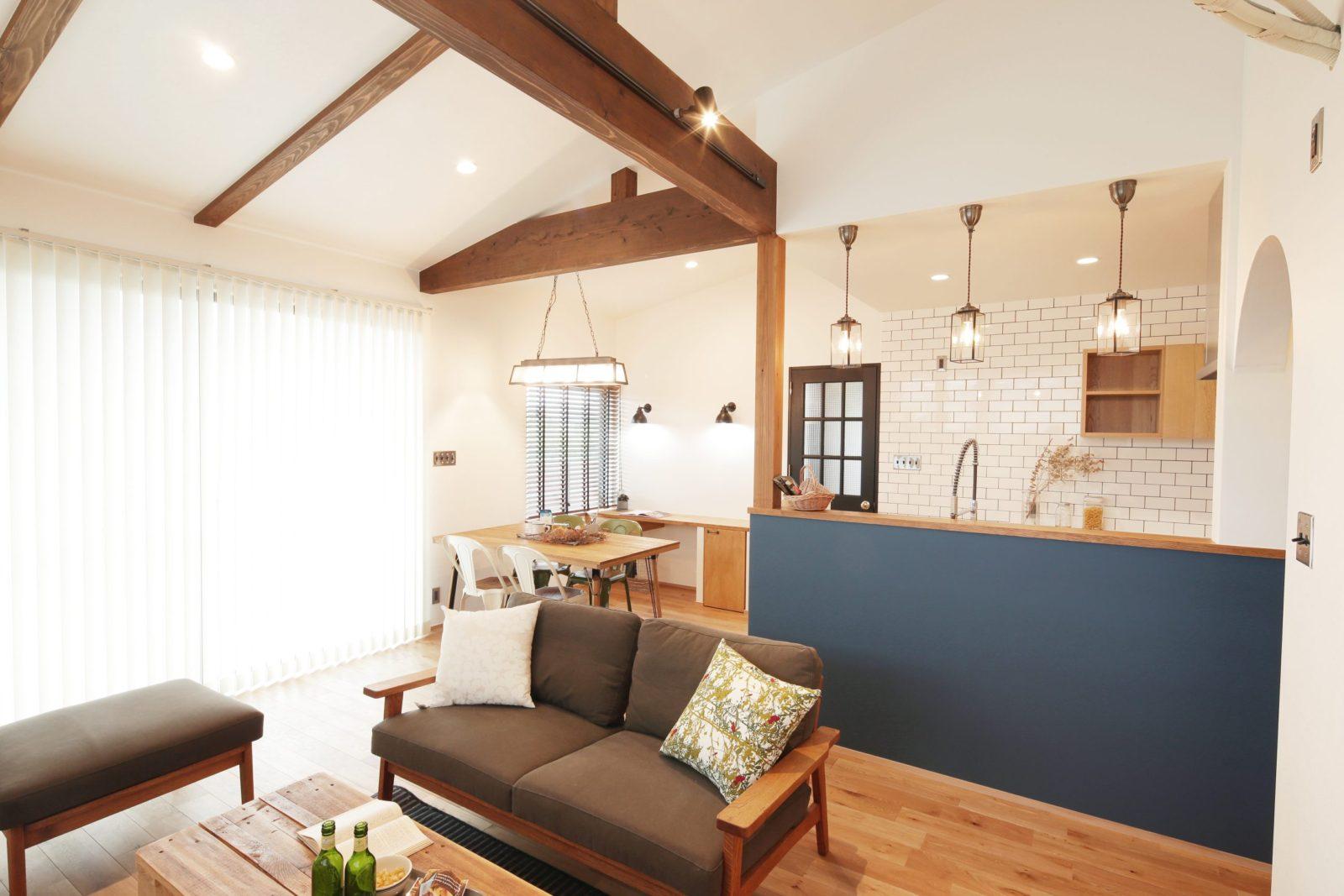 鹿児島市東谷山でオープンハウス 三角屋根の家