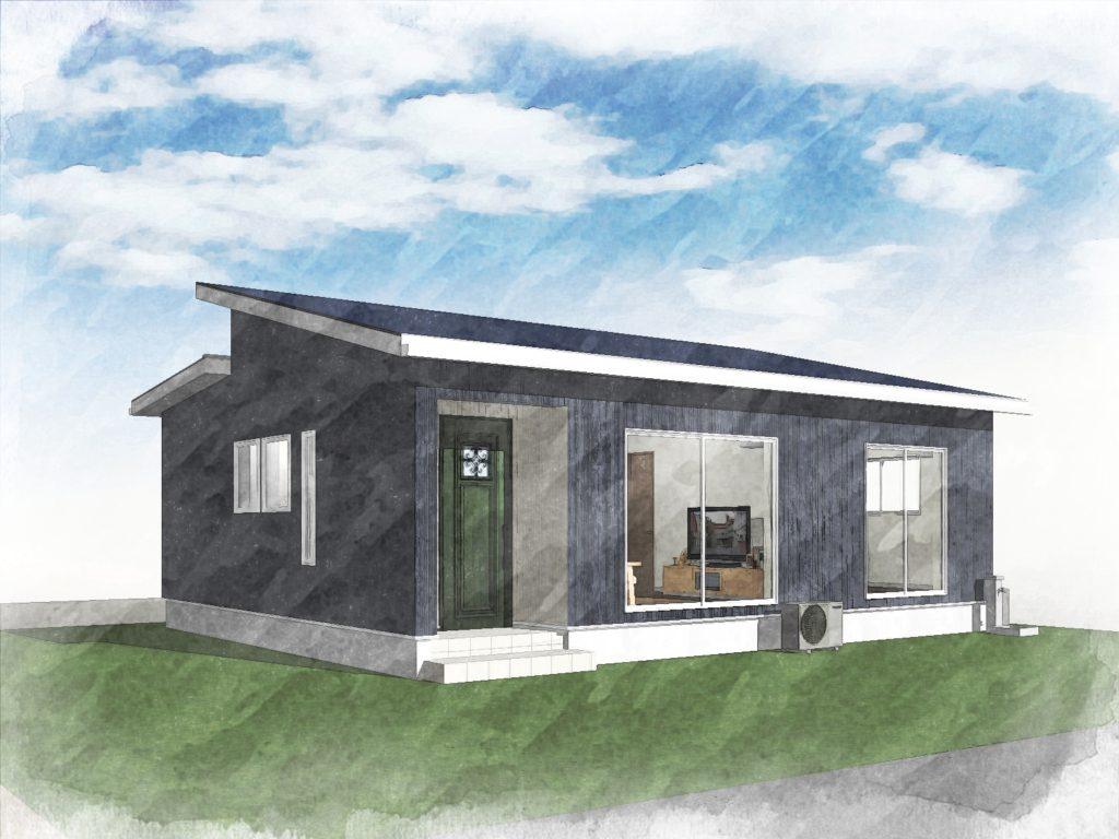 霧島市国分清水で平屋完成見学会 コンパクトなかわいいお家