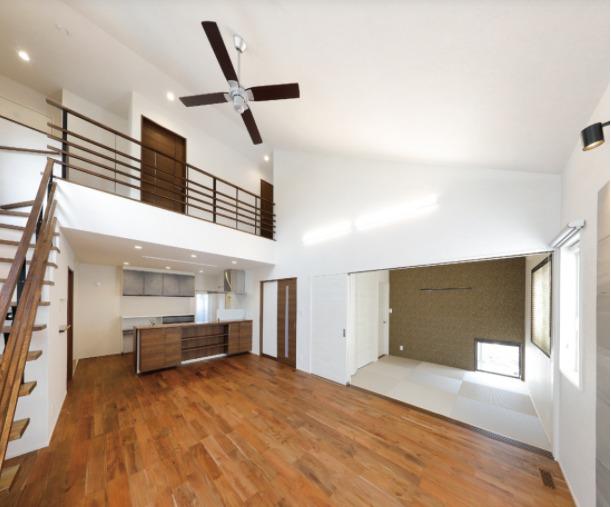 薩摩川内市大小路町で完成見学会 家事効率が劇的にアップする平屋風2階建ての家 | 七呂建設